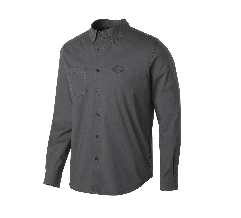 H-D® Moto Stretch Long Sleeve Slim Fit Shirt Men