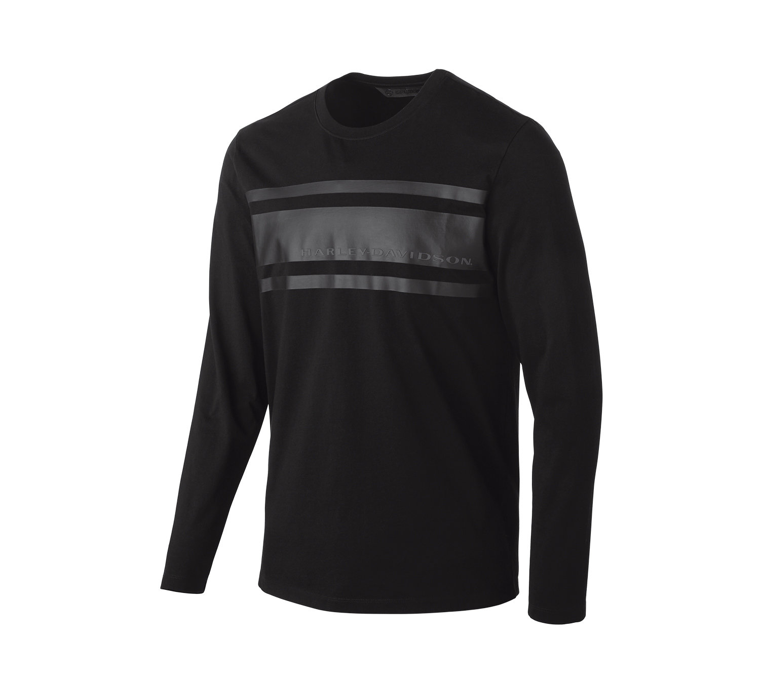 T-Shirt Men Long Sleeve H-D® Moto Chest Stripe Slim Fit