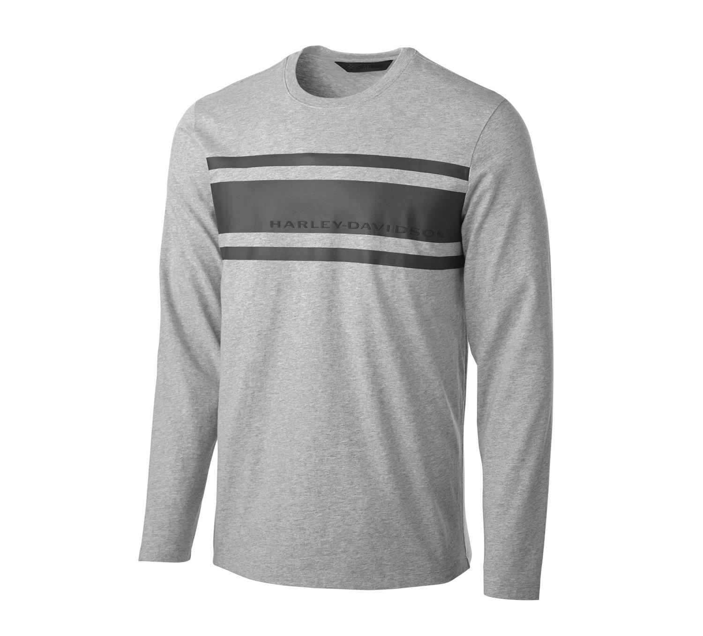 T-Shirt Men Long Sleeve H-D® Moto Chest Stripe Slim Fit