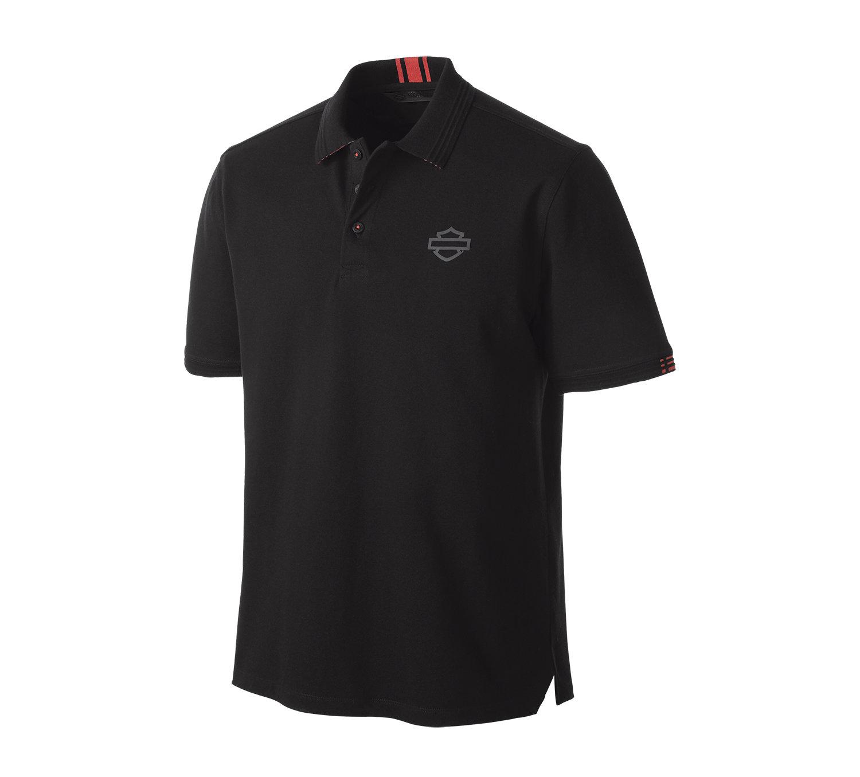 Shirt Men Short Sleeve H-D® Moto Stretch Piqué Slim Fit Polo