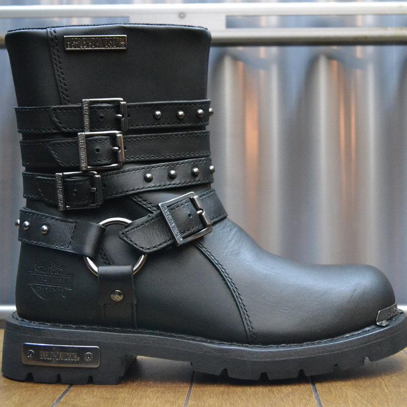 Boots Women Zipper Eddington Black Leather