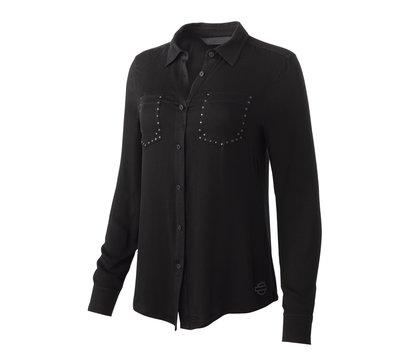 Shirt Women Long Sleeve H-D® Moto Stretch Rayon