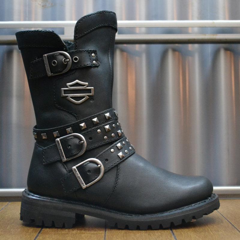 Boots Women Zipper Adrian Black Leather