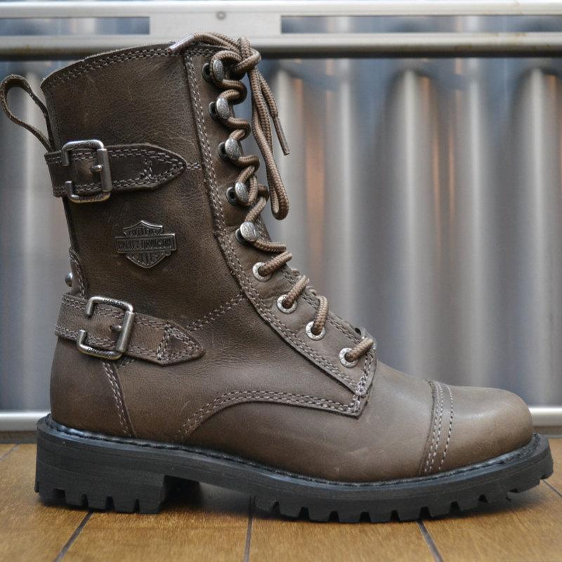 Boots Women Zipper Balsa Brown Leather