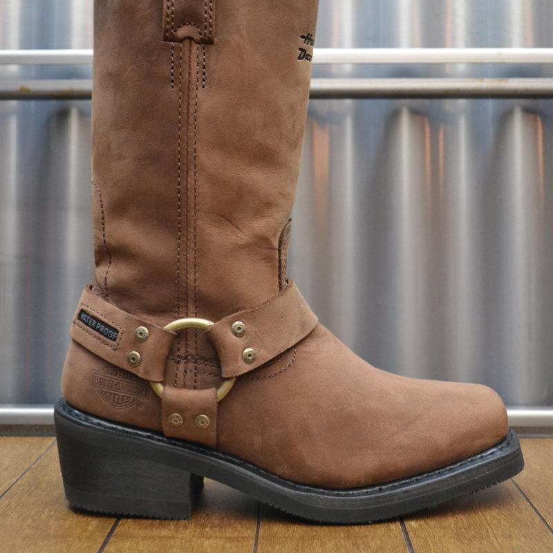 Boots Women Waterproof Zipper Hustin Brown Leather