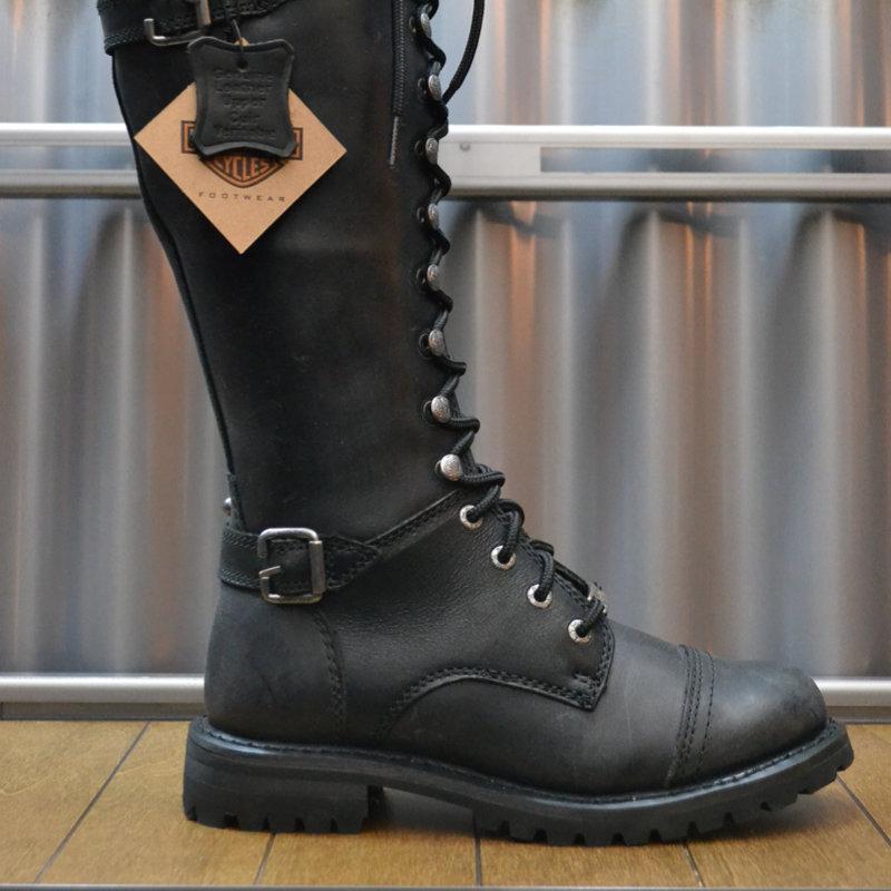 Boots Women Zipper Beechwood Black Leather