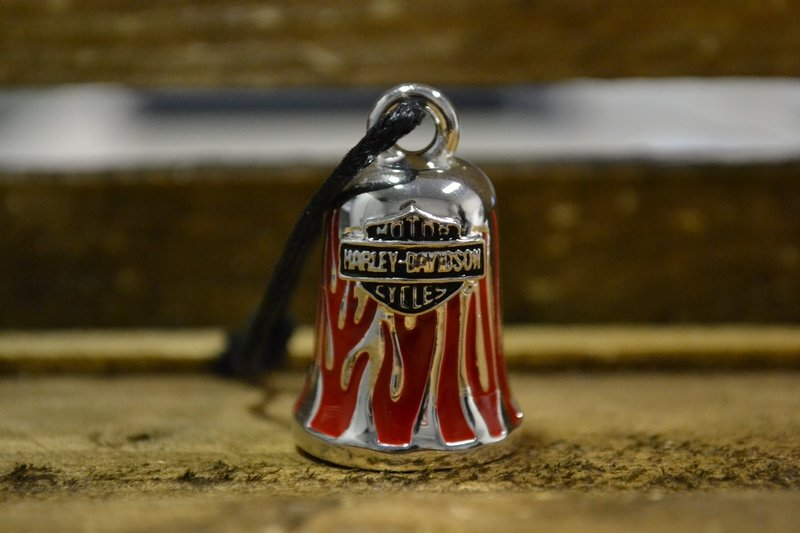 Harley-Davidson® Ride Bell Red Flames B&S