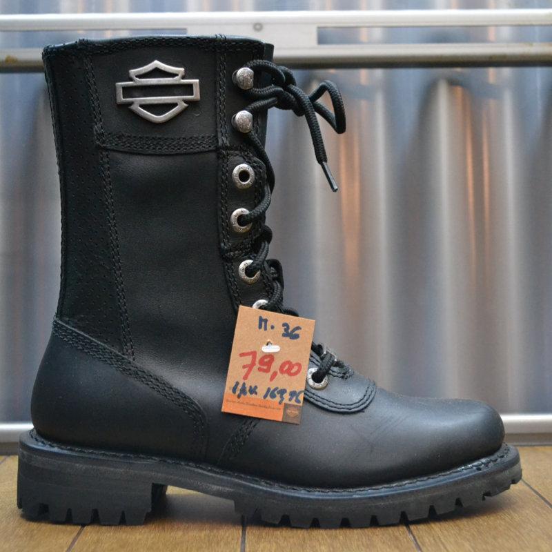 Boots Women Zipper Matisa Black Leather