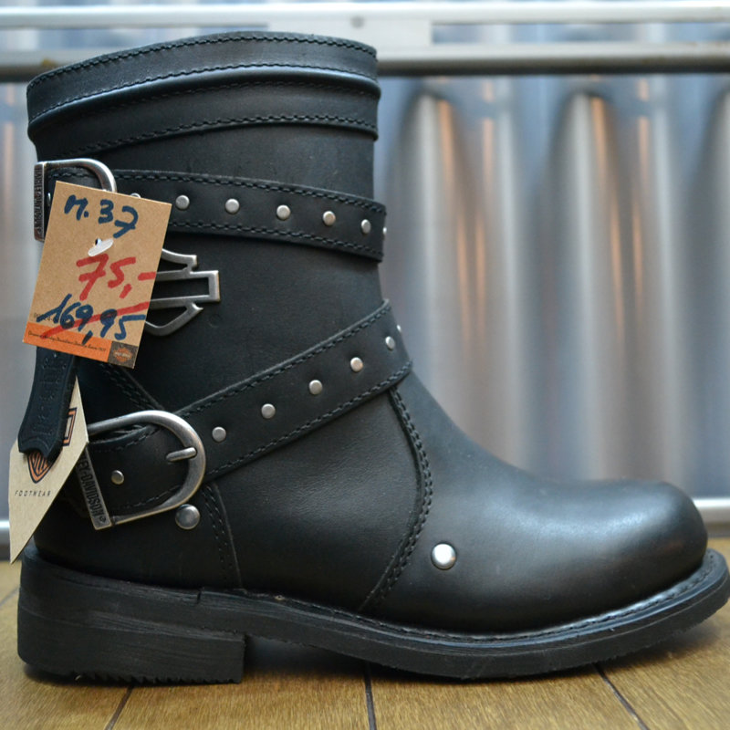 Boots Women Zipper Chryse Black Leather