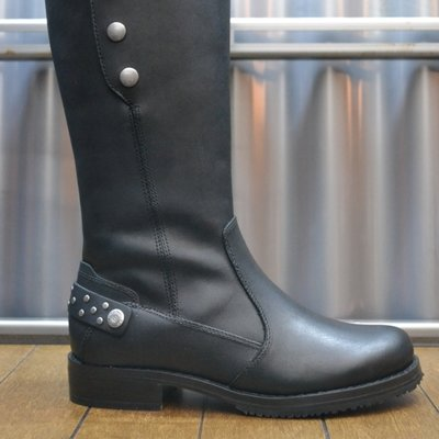 Boots Women Zipper Mollie Black Leather