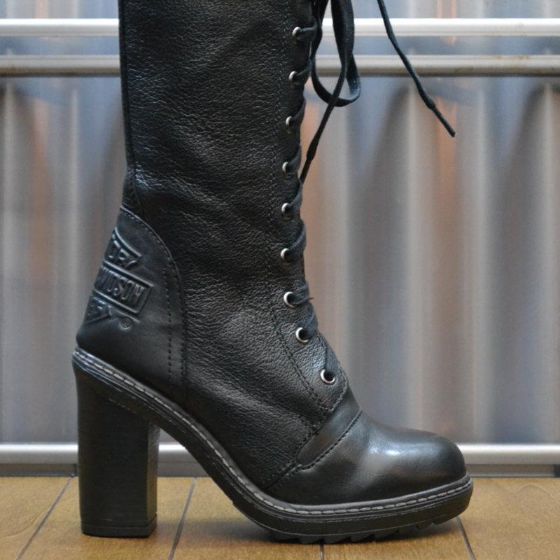 Lunsford Black Leather High Heels Women