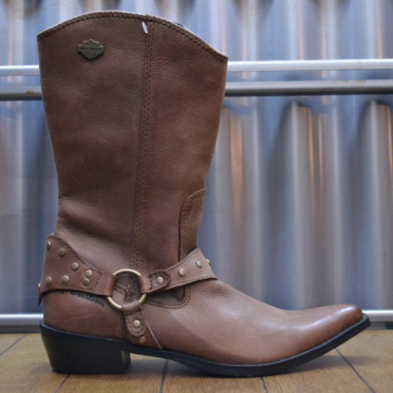 Boots Women Zipper Dennet Brown Leather