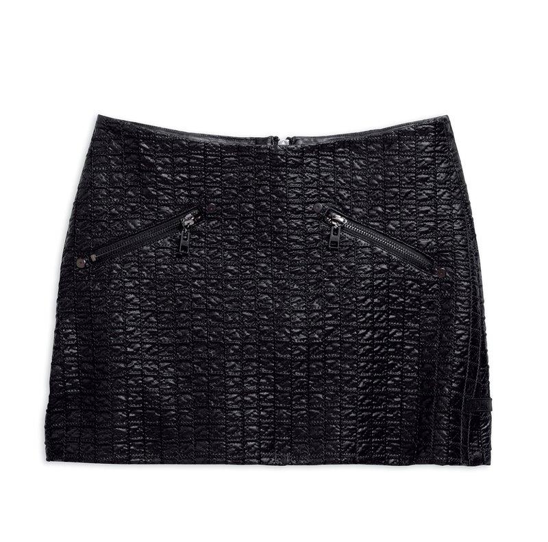 Skirt Women Quilted Black