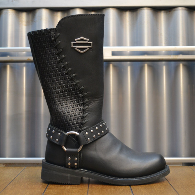 Boots Women Zipper Aimee Black Leather