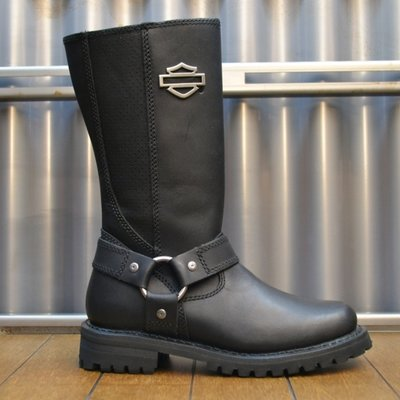 Boots Women Zipper Lily Black Leather