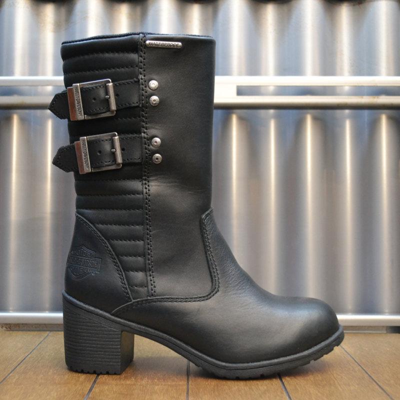 Boots Women Waterproof Zipper - CE-Approved Kirkley Black Leather