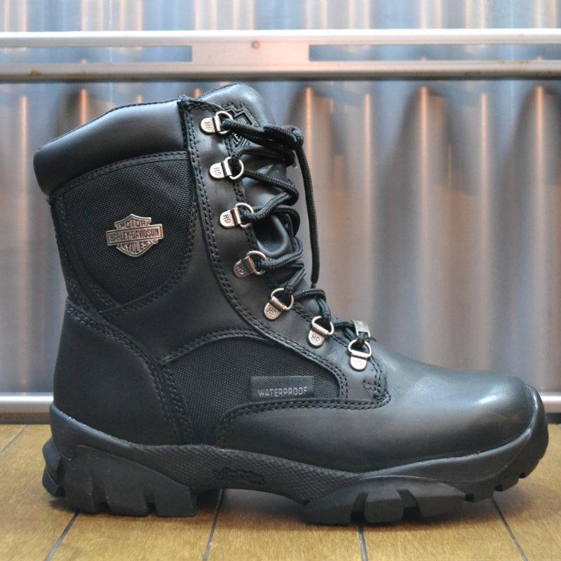 Boots Women Waterproof Zipper Hennie Black Leather/Mesh
