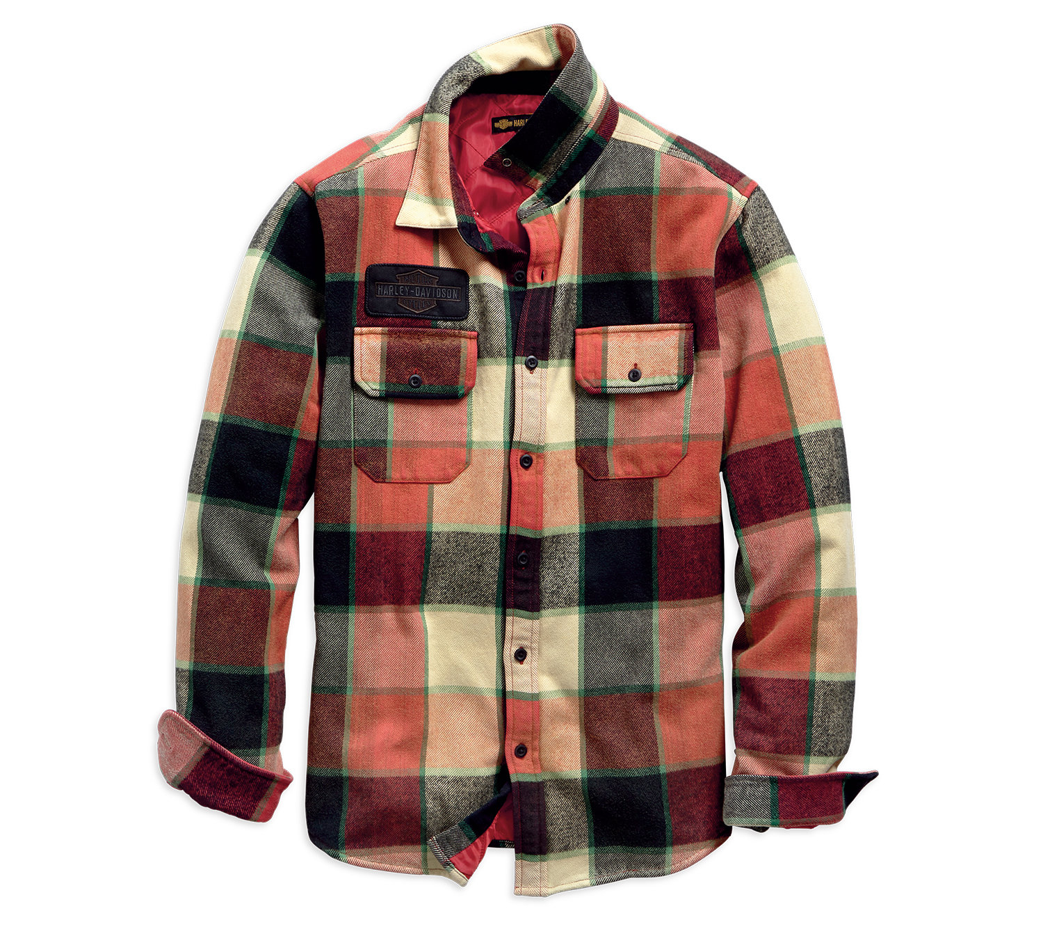 1903 Logo Lined Slim Fit Plaid Shirt Jacket Men