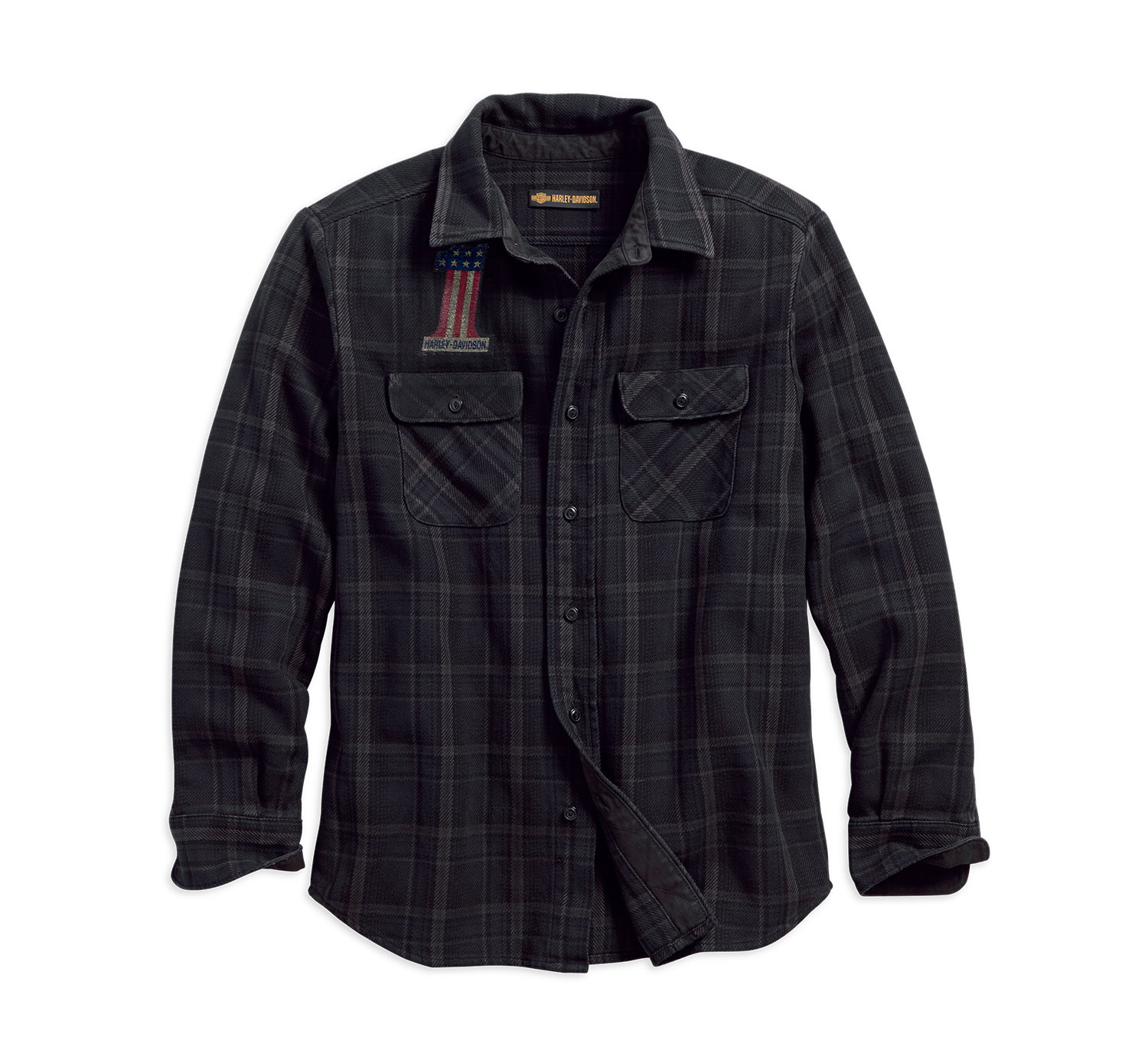 1903 Over-Dyed Plaid Slim Fit Shirt Men