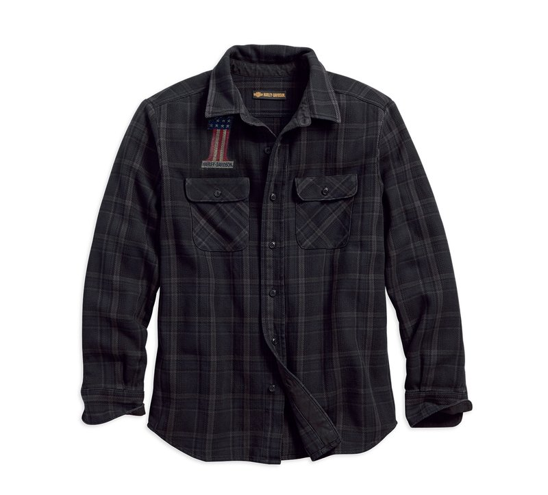 Shirt Men Long Sleeve 1903 Over-Dyed Plaid Slim Fit