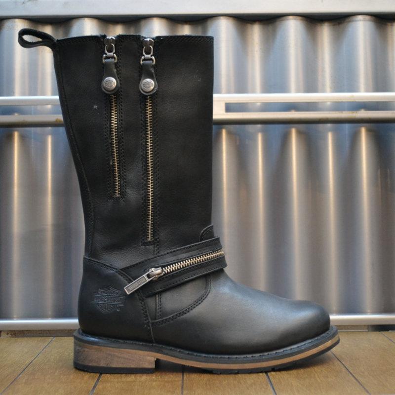 Sackett Black Leather Bikerboots Women