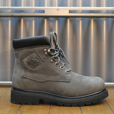 Boots Women Laced Bayport Grey Leather