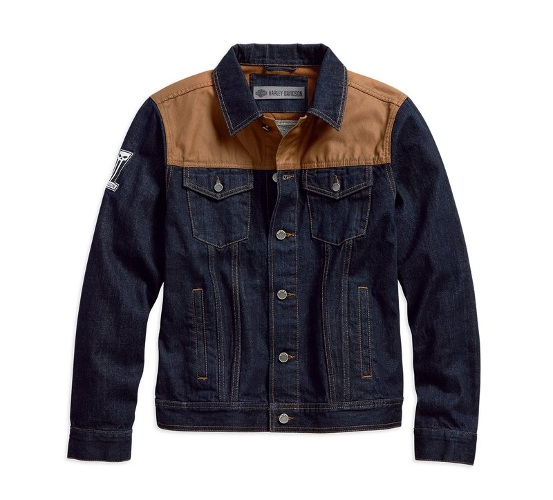Jacket Men Denim Garage Canvas Slim Fit