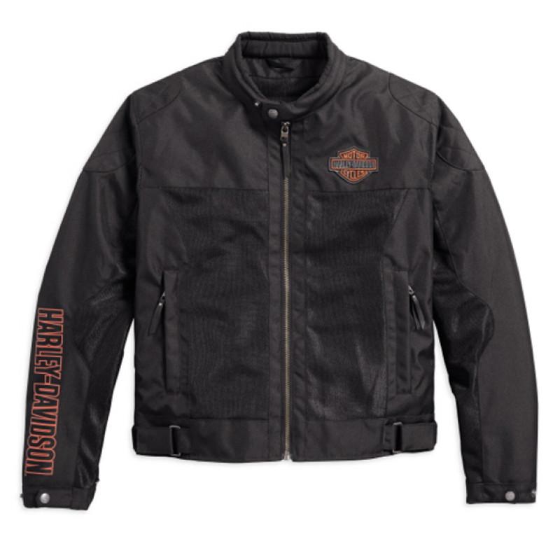 Jacket Men CE-approved Riding Mesh Bar & Shield™ Logo Mesh