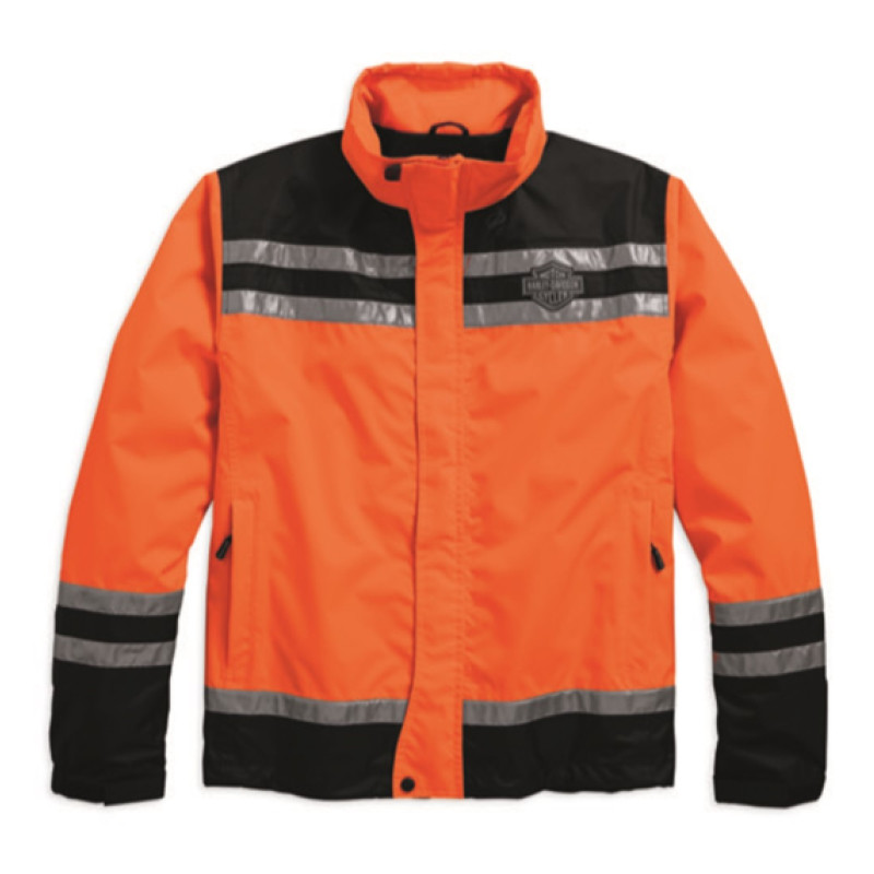 Jacket Men Rain Hi-Visibility Reflective