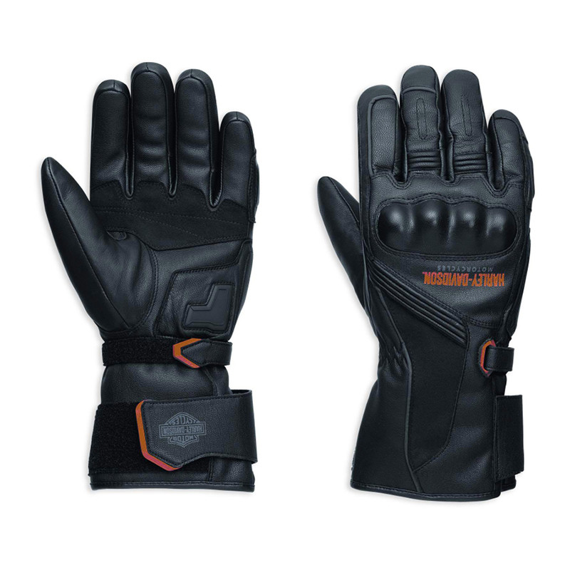 Messenger Leather Gauntlet Gloves Men