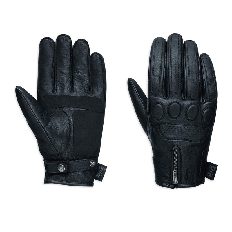 #1 Skull Leather Gloves Men