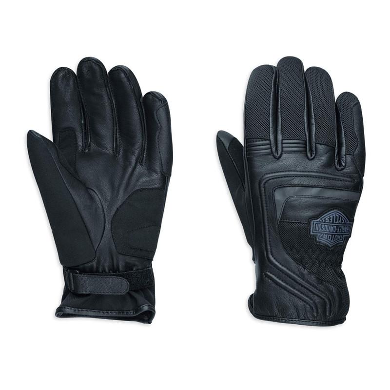 Gloves Men Bar & Shield™ Logo Leather & Mesh