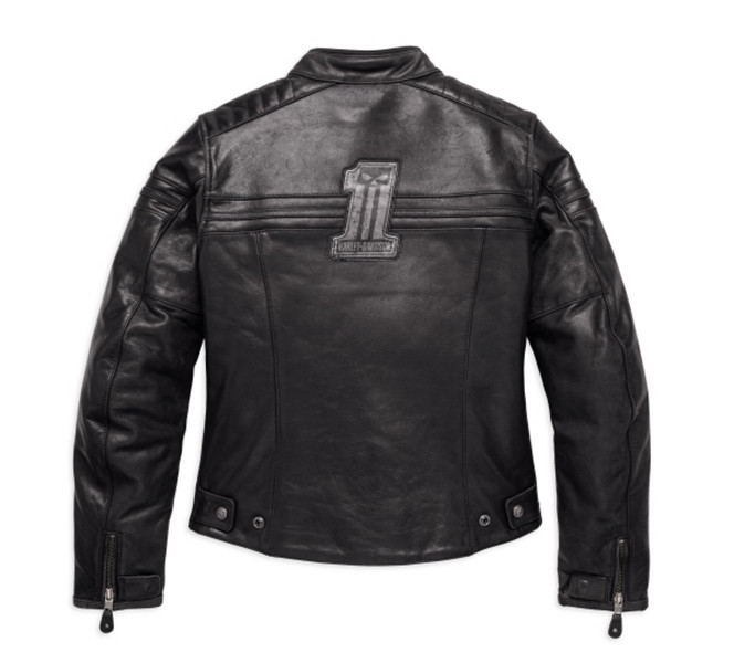 #1 Skull Leather Riding Jacket Women
