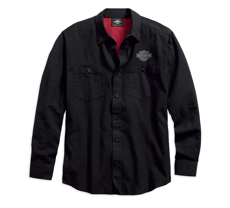 Shirt Men Long Sleeve Cotton Linen