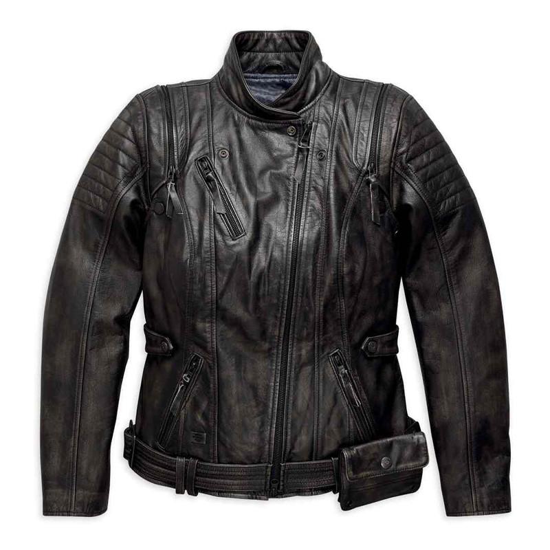 Brava Convertible Leather Riding Jacket Women