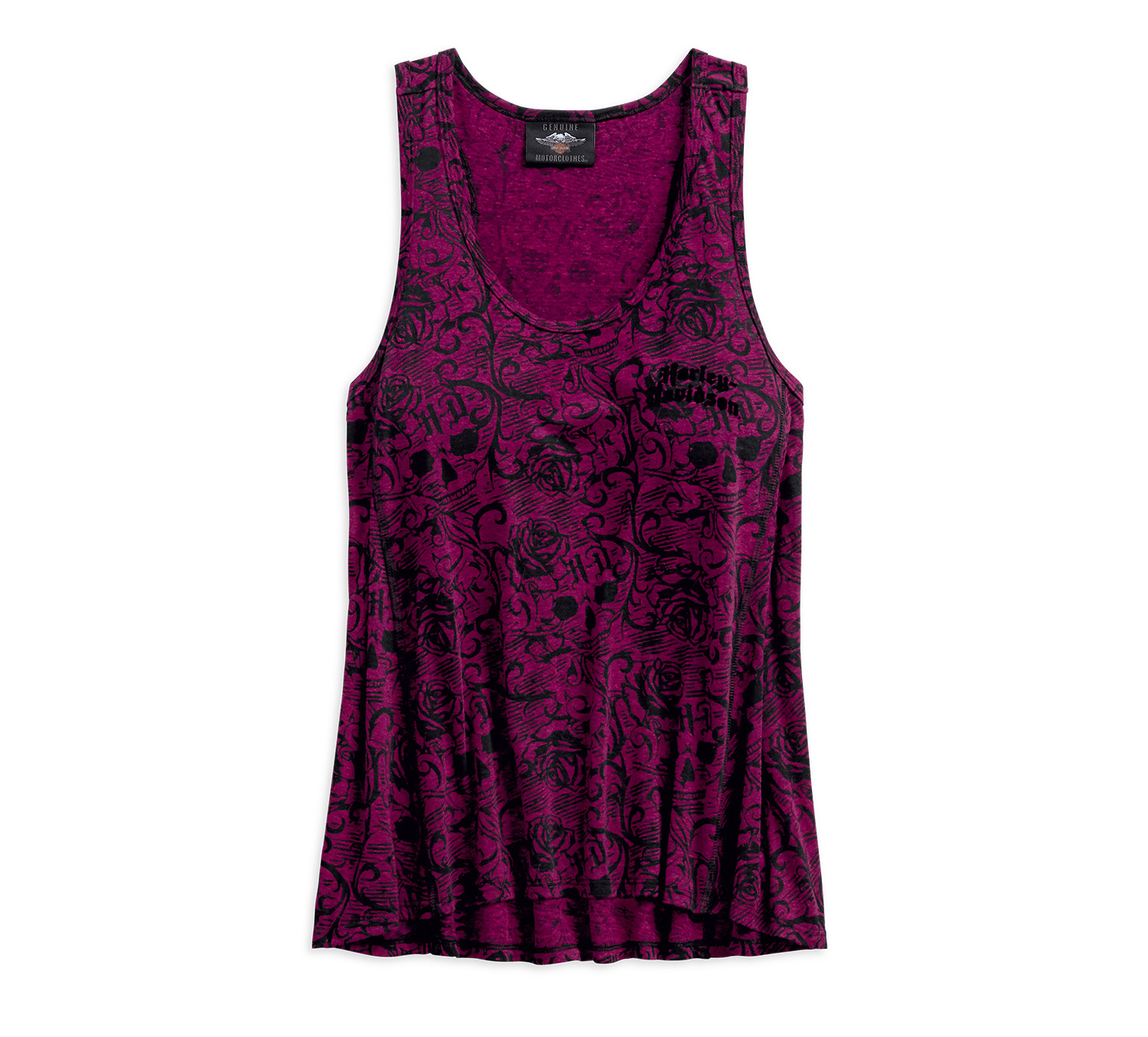 Allover Patterned Burnout Tank Women