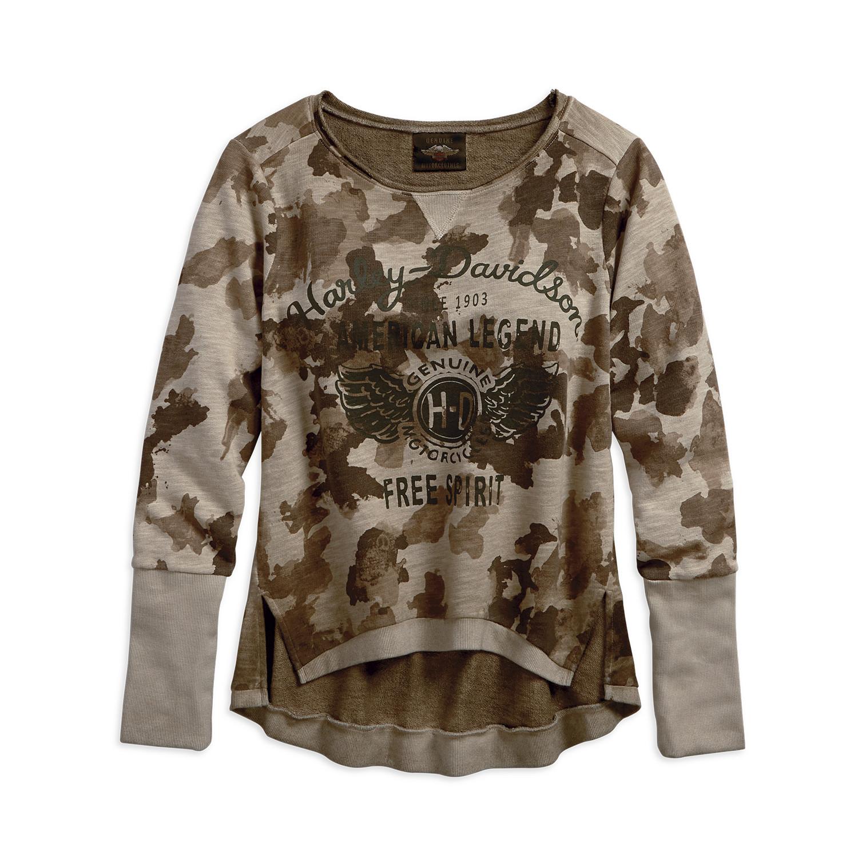 Camo Pullover Sweatshirt Women