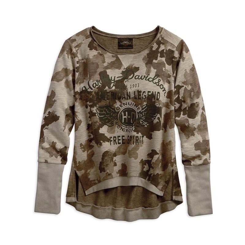 Sweatshirt Women Camo Pullover