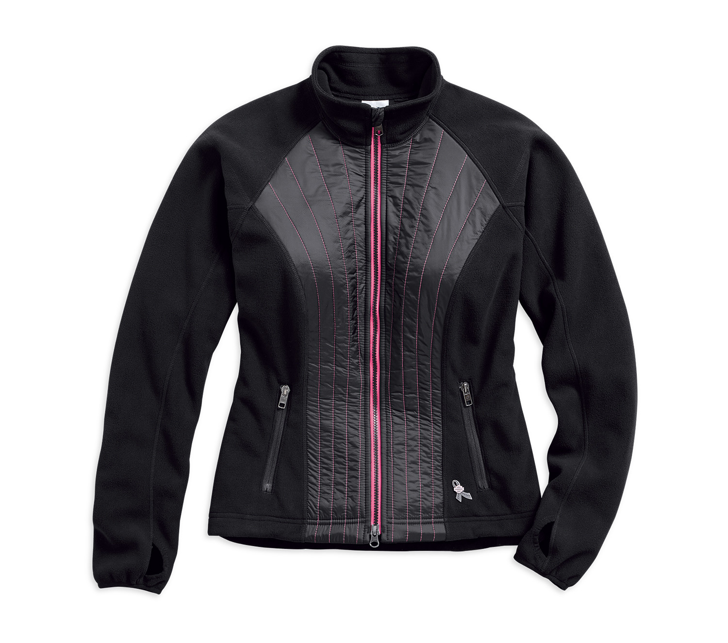 Fleece Women Jacket Pink Label Stitched