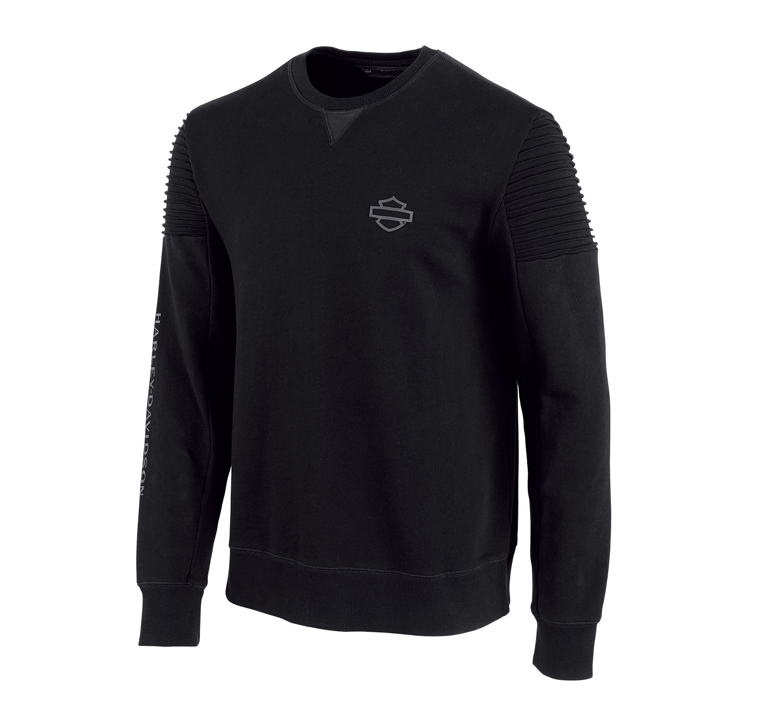 Fleece Men H-D® Moto Pintuck Shoulder Slim Fit Pullover