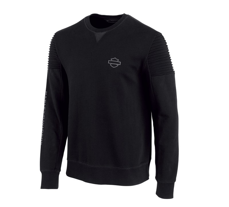 H-D® Moto Pintuck Shoulder Slim Fit Fleece Pullover Men