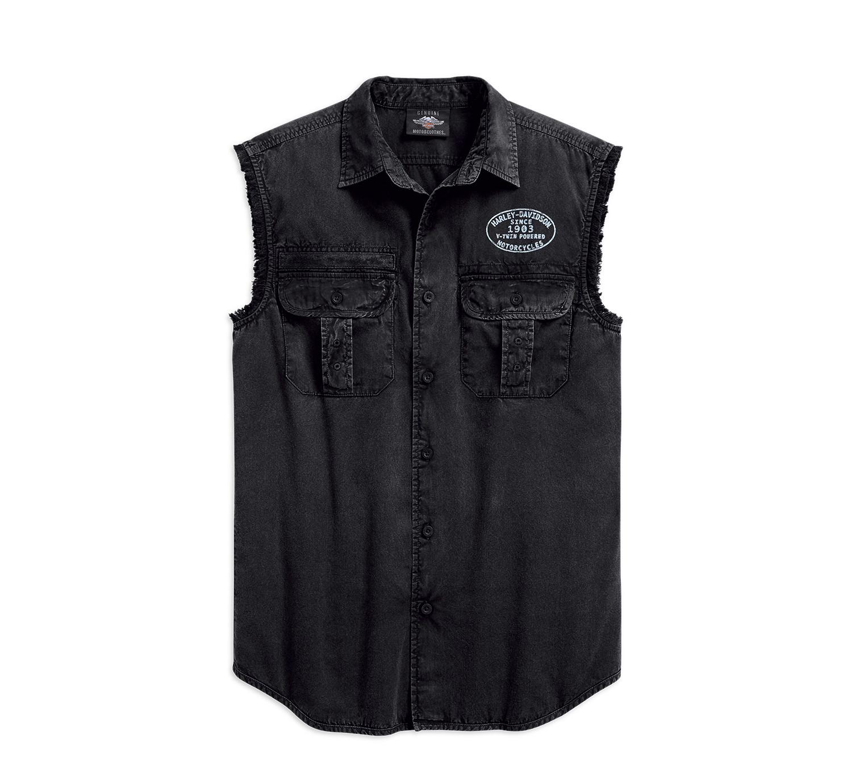 Shirt Men Sleeveless Winged Logo Blowout