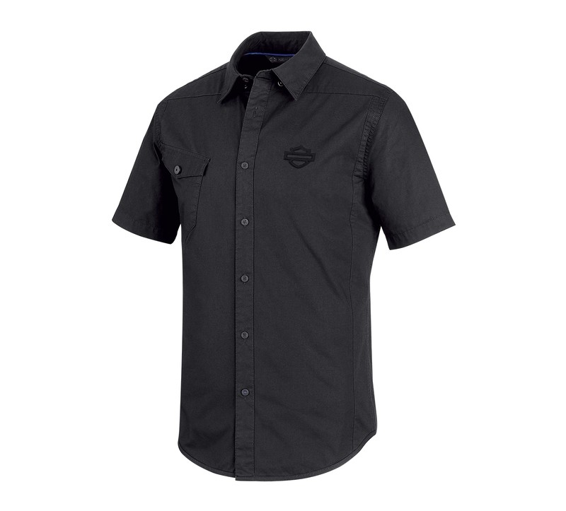 Shirt Men Short Sleeve H-D® Moto Performance Vented Stretch Slim Fit