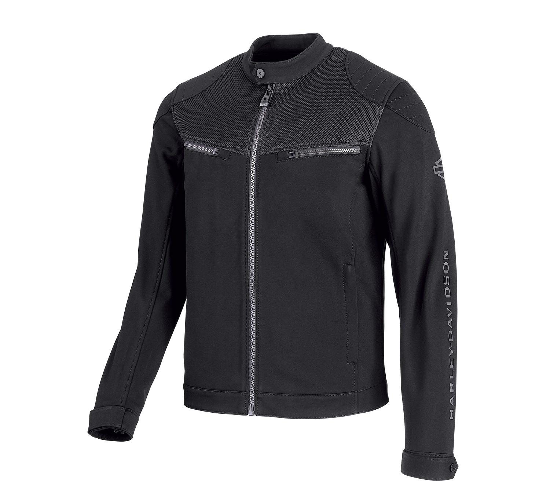 H-D® Moto 3D Mesh Accent Casual Slim Fit Jacket Men