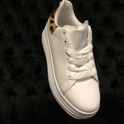 Sneakers Women Fashion White Leopard
