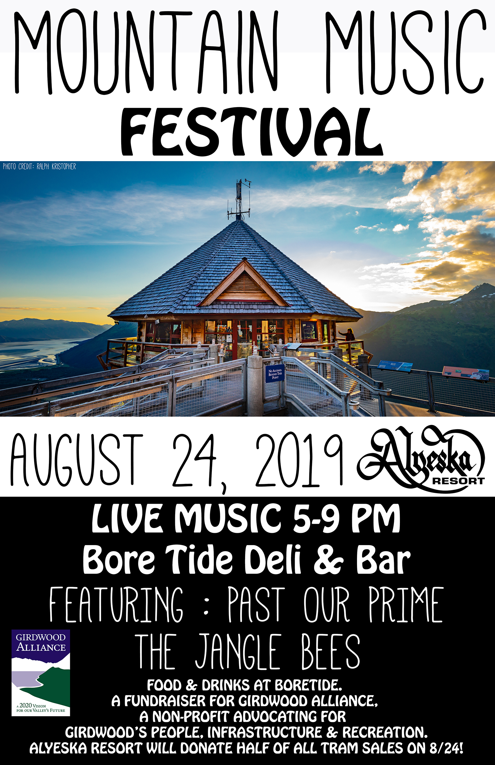 Tram Ticket - Mountain Music Festival August 24th 5-9 PM