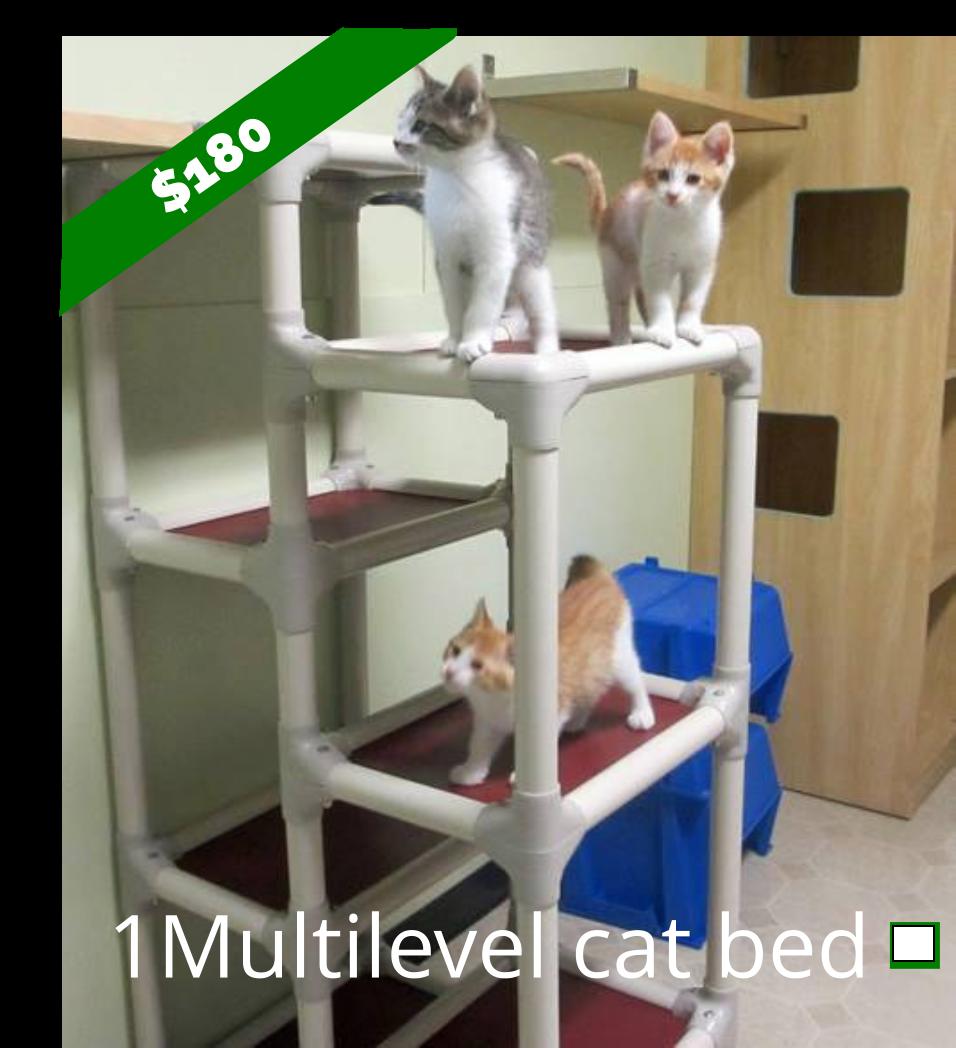 Multilevel Cat Bed