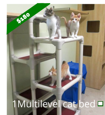 Multilevel Cat Bed