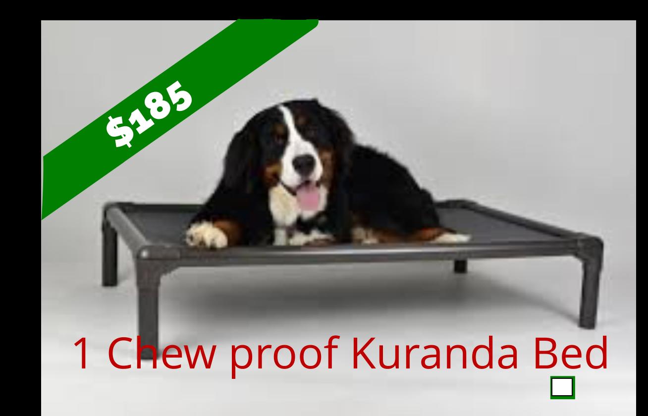 One Chew proof Kuranda Bed - Aluminum Large