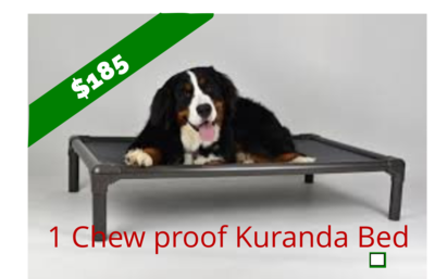 One Chew proof Kuranda Bed - Aluminum Large
